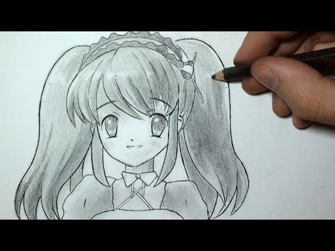 Comment dessiner un visage manga fille tutoriel 3 youtube - Fille de manga ...