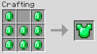 Minecraft UHC but you can craft armor out of any item..