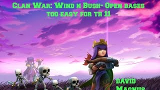 Clash of Clans: Clan War- Maybe wide open bases should be changed?