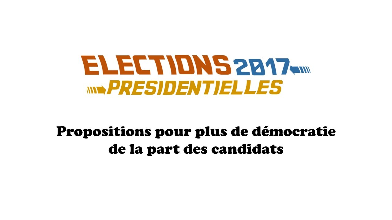 elections pr sidentielles 2017 programme des candidats d mocratie vulgos kratos youtube. Black Bedroom Furniture Sets. Home Design Ideas