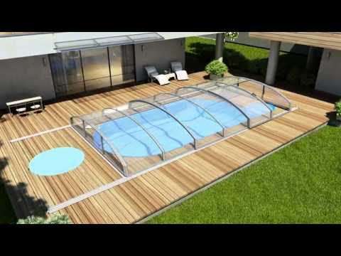 abri piscine en kit distri cover youtube. Black Bedroom Furniture Sets. Home Design Ideas