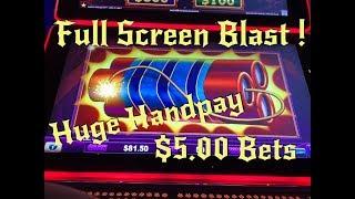 Full Screen - Eureka Reel Blast - HUGE HANDPAY on $5 Bet