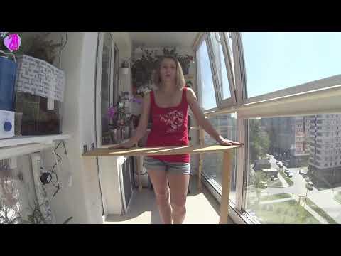 Гладильная доска своими руками на балконе!