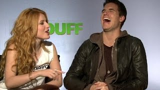 "Bella Thorne, Robbie Amell & Mae Whitman Talk ""The Duff"" Slapping 