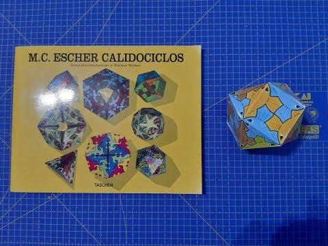 Libro de calidociclos de M.C Escher. Con plantillas para montar calidciclos y poliedros