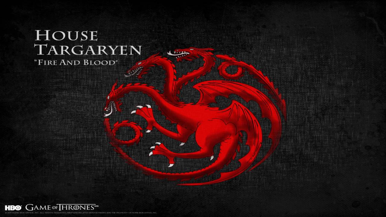 house targaryen dragons themes s1 s6 game of thrones