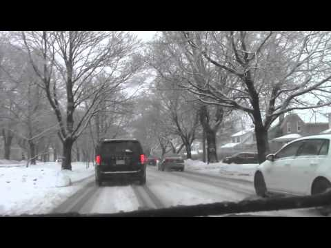 Driving in a Halifax Snowstorm - Highway 102 to Downtown