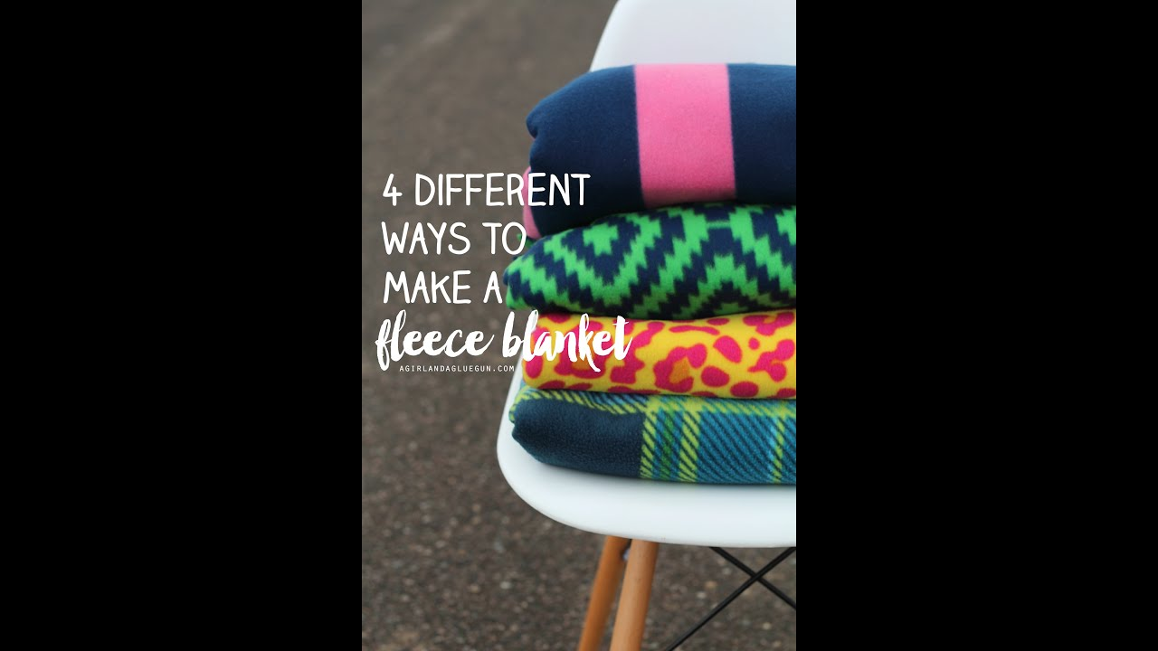 Making a fleece tie blanket video