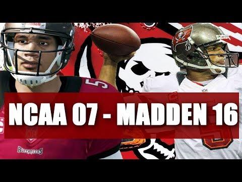 Josh Freeman Through the Years - NCAA Football 07 - Madden 16