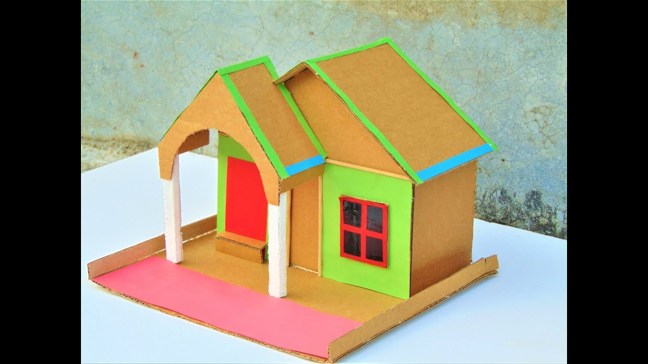 Citaten School Project : Diy cardboard house model how to make small