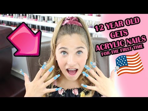 12 YEAR OLD GETS ACRYLIC NAILS for the FIRST TIME! | Rosie McClelland