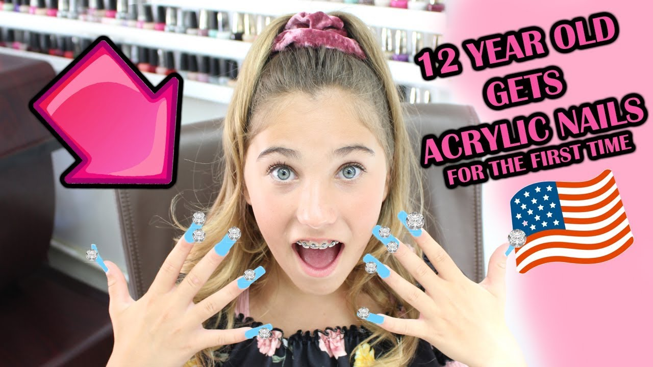 12 Year Old Gets Acrylic Nails For The First Time Rosie Mcclelland Youtube