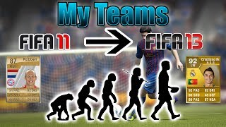 My FIFA UT Teams - FIFA 11 - FIFA 13 | ft. Ronaldo, Messi & Ribery