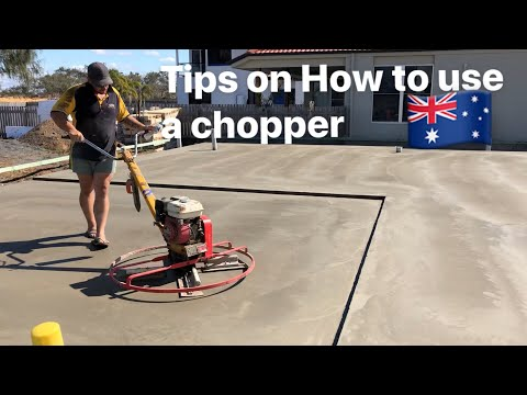 How to finish concrete with a copter