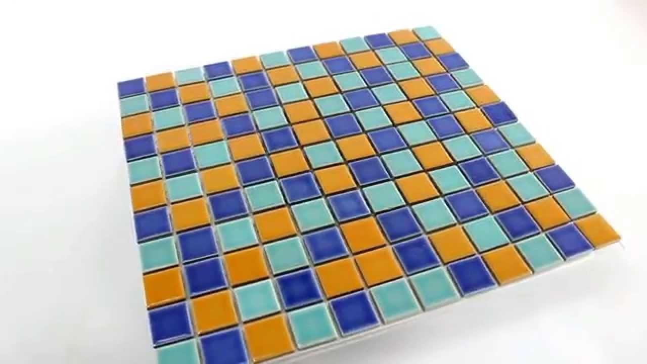 keramik mosaik fliesen blau gr n orange youtube. Black Bedroom Furniture Sets. Home Design Ideas