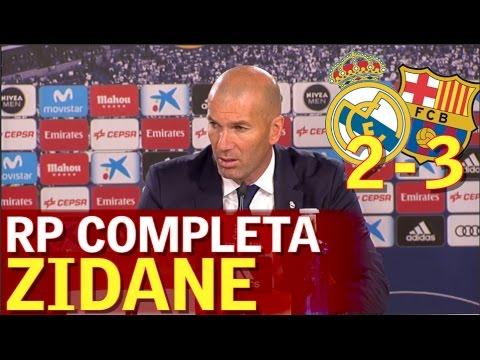 Real Madrid 2 - Barcelona 3 | Rueda de prensa Zidane | Diario AS