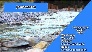 Wandern mit Kindern im Jenbachtal Bad Feilnbach 👪 Wasserfälle 🌊  Badeplätze ⛱  leichte Wanderung