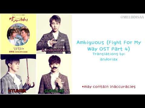 [HAN|ROM|ENG] BTOB-Blue - Ambiguous Lyrics (Fight for My Way OST Part 4)
