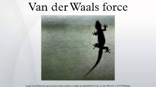 Van der Waals force