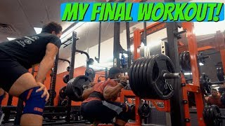 My Last Workout Before Competing.. | Raw Nationals Prep Ep. 12