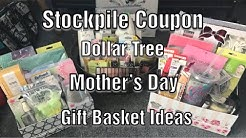Inexpensive Affordable DIY Mother's Day Gift Ideas using stockpile coupon items and dollar tree