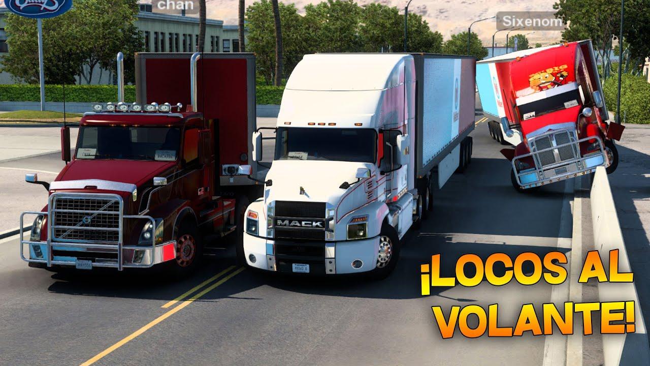 ¡TRES LOCOS AL VOLANTE! | NUEVO INTEGRANTE DE RUTA | American Truck Simulator