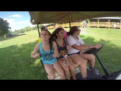 2016 Camp Che-Na-Wah golf cart karaoke / blue & gold
