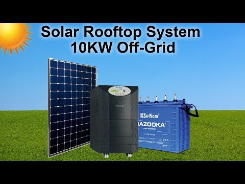 Solar Rooftop System | 10KW Off Grid