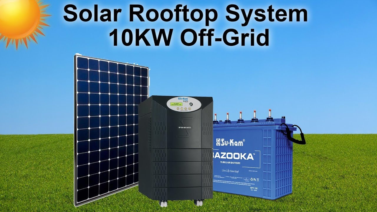 Solar Rooftop System 10kw Off Grid Youtube