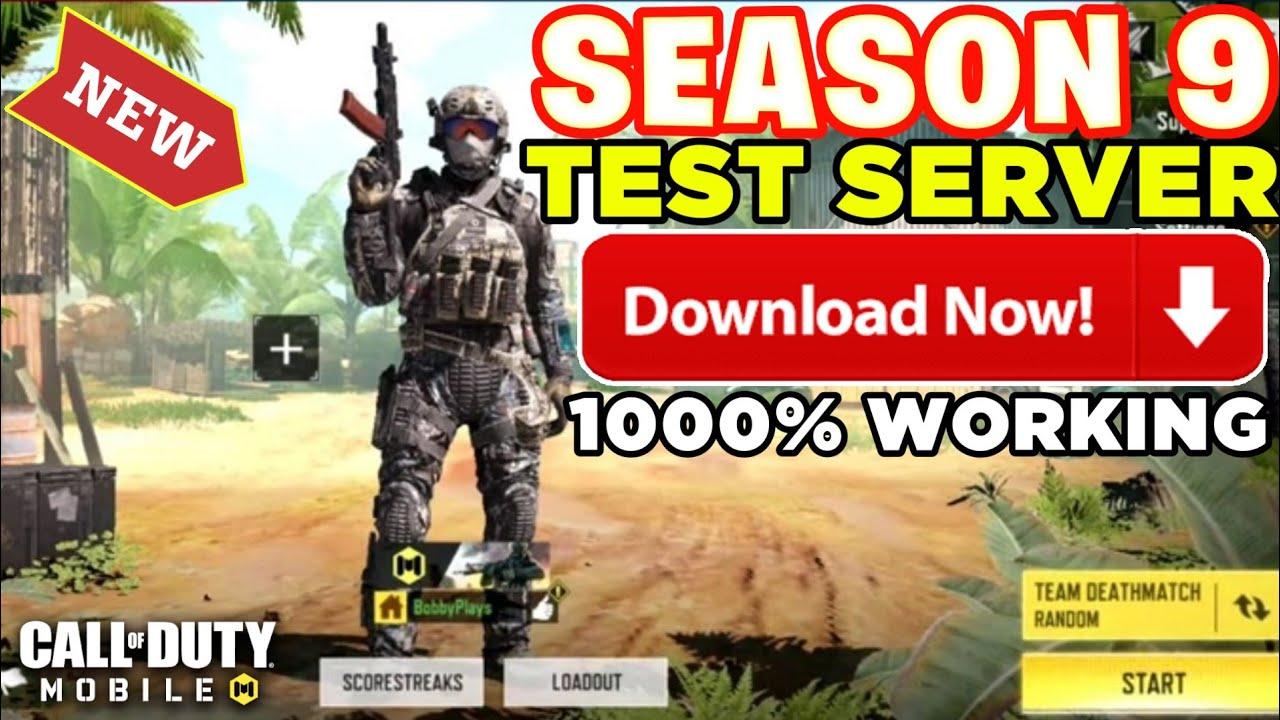 Season 9 Test Server Call Of Duty Mobile Cod Mobile Test Server