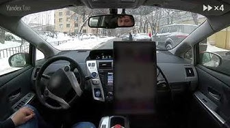 Yandex Self-Driving Car. Moscow streets after a heavy snowfall