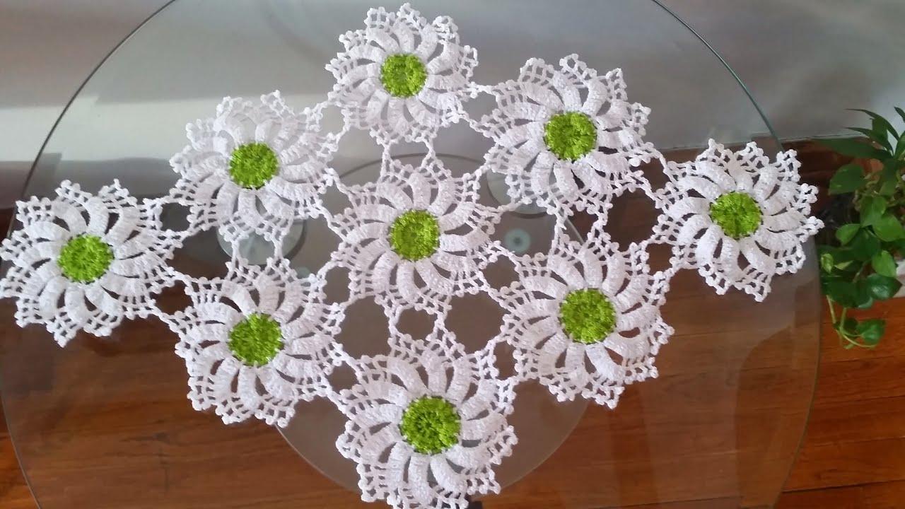 Flor para centro de mesacamino de mesa y mantel  YouTube