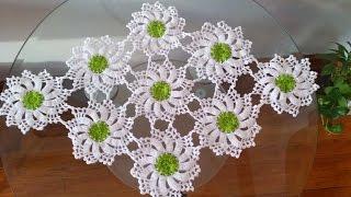 Camino de mesa elegante en crochet 2 viyoutube for Camino de mesa elegante en crochet