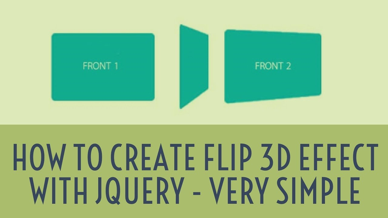 How to create flip 3d effect with jquery - very simple