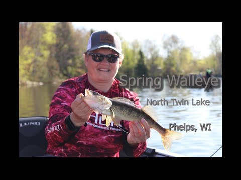 Spring Walleye On North Twin Lake