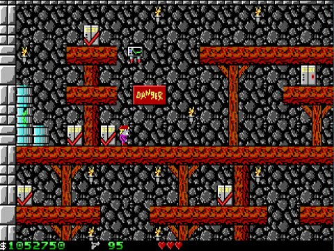 Apogee Crystal Caves I, Troubles With Twibbles, 1991. Level 3 Walkthrough