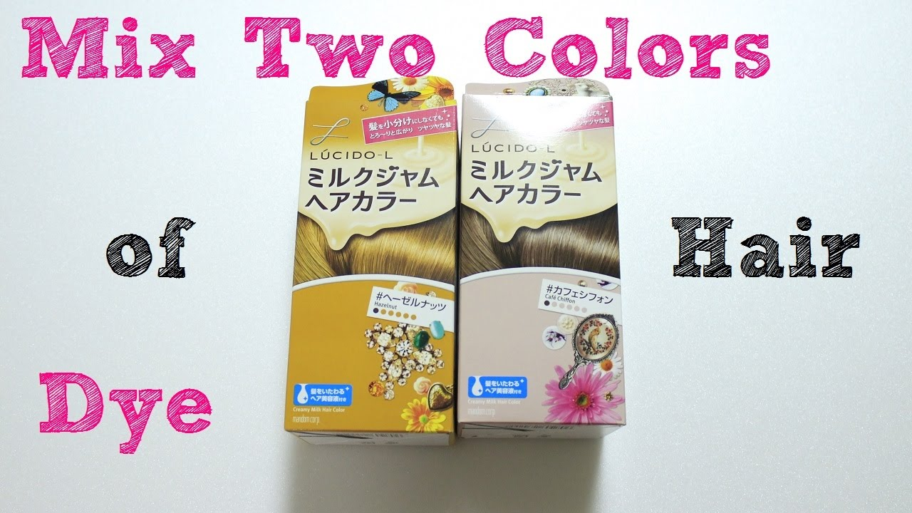 Mix Two Colors Of Hair Dye Youtube