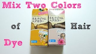 Repeat youtube video ♡mix two colors of Hair Dye♡二色染め