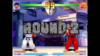 Mugen Battle - Ryu (SF3) VS Ken (SF3)