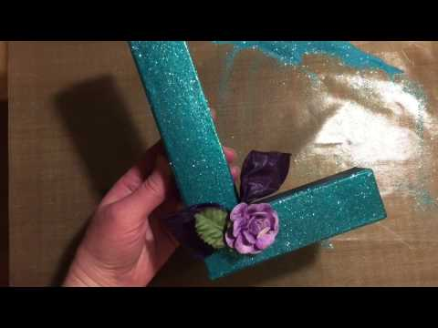 How To Decorate Monogram Letters by Paper Wishes