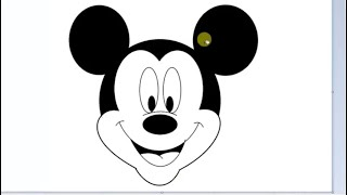 Drawing Mickey Mouse in MS Paint || Kids || Favourite