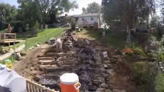 Incredible Water Feature Transforms landscape in Less than 4 Minutes