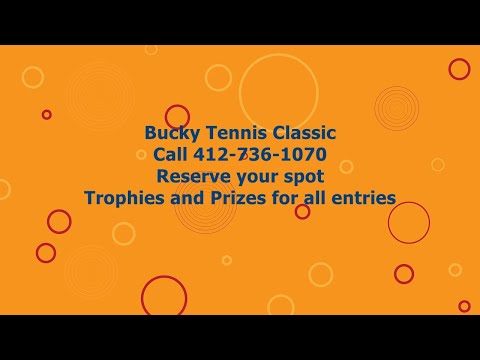 Bucky Tennis Classic in Pittsburgh is Saturday morning, April 28th @ Moore Park