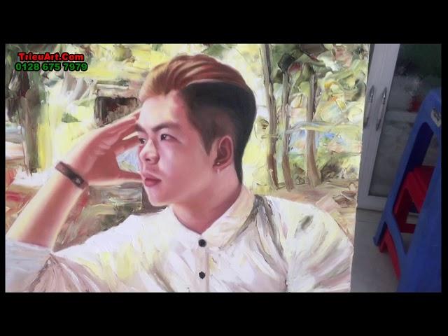 vẽ tranh chân dung sơn dầu -  trieuart.com ĐT 078 675 7979