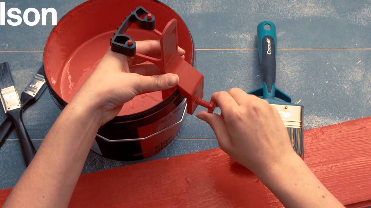 streichen ohne spritzer und verschmutzten farbeimer youtube. Black Bedroom Furniture Sets. Home Design Ideas