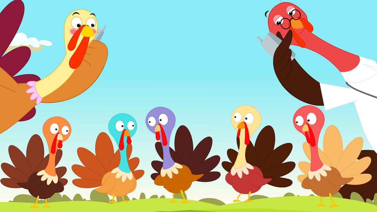 Five Little Turkeys | Thanks Giving Song - YouTube