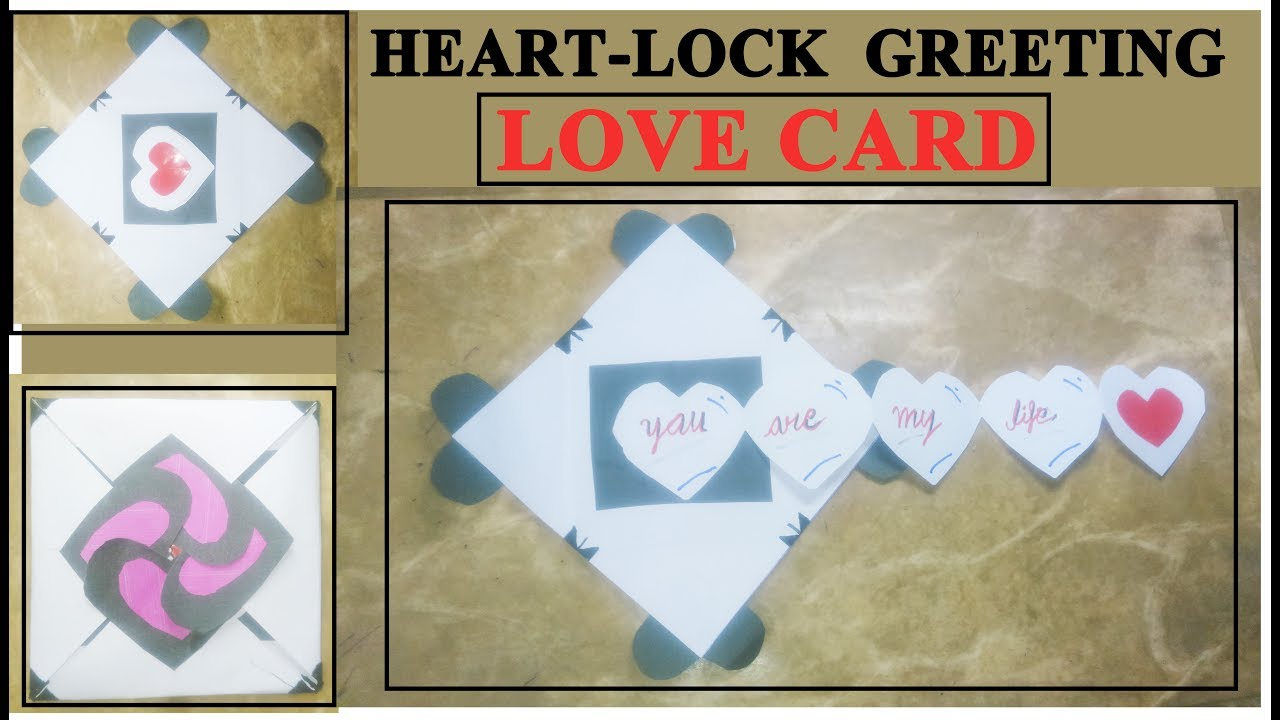 Love Card Heart Lock Greeting Card Youtube