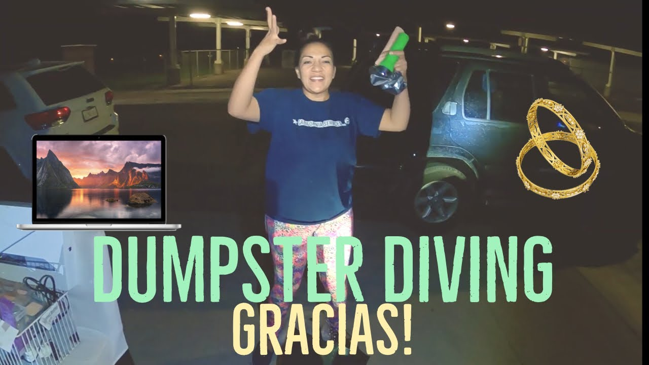 DUMPSTER DIVING / ENCONTRAMOS MAQUILLAJE / EQUIPO CON MI HIJO / BUSCANDO TESORO- LO QUE TIRAN EN USA