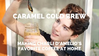 Recreating Charli DAmelios Favorite Coffee At Home: Caramel Cold Brew From Dunkin Donuts