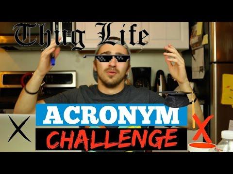 I DISSED ERIC BECKERMAN?! - Acronym Challenge - Boston Tom